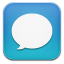 Message blue icon