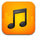 Music orange icon