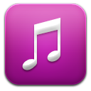 Music purple icon