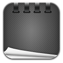 Notepad black icon