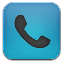 Phone blue black icon