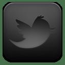 Twitter black icon