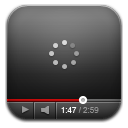 Youtube black wait icon