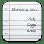 Shopping list icon