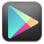 Google play black icon