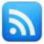 Google reader blue icon