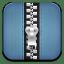Zip blue icon