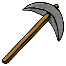 Stone Pickaxe Icon | Minecraft Iconset | ChrisL21