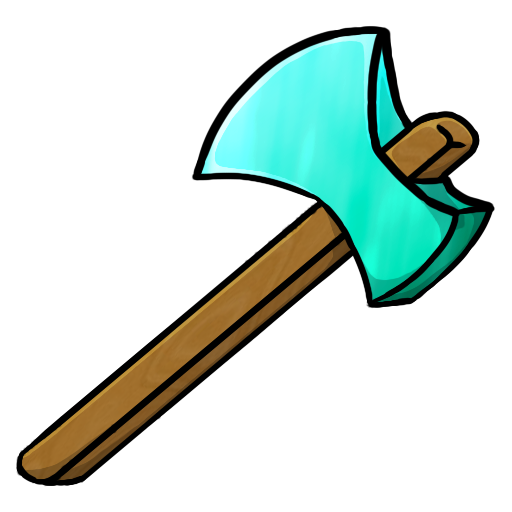 Diamond Axe Icon | Minecraft Iconset | ChrisL21