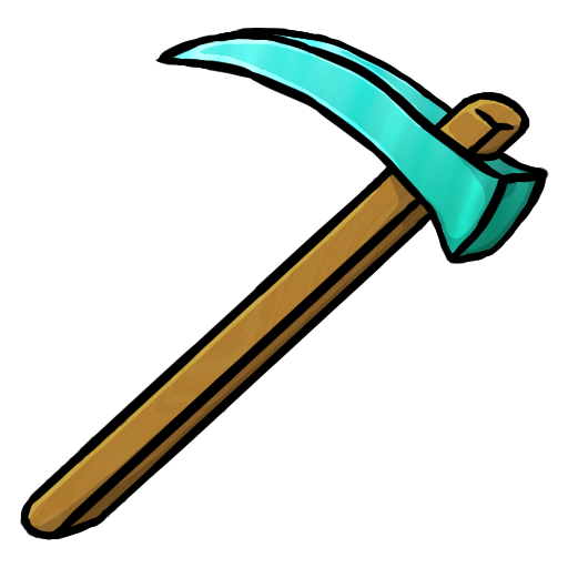 Diamond Hoe Icon | Minecraft Iconset | ChrisL21