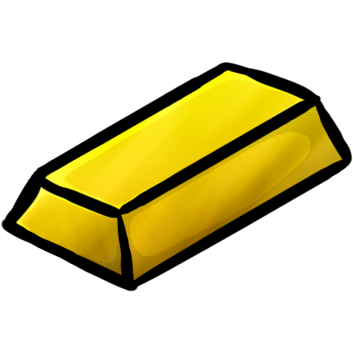 Gold Ingot Icon | Minecraft Iconset | ChrisL21