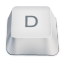 Letter uppercase D icon