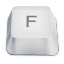 Letter uppercase F icon