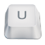 letter uppercase U icon