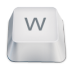 Letter-uppercase-W icon