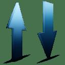 Transfert bleu icon