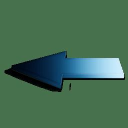 Precedent bleu icon