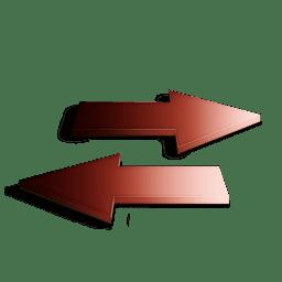 Rafraichir rouge icon