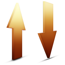 Transfert orange icon