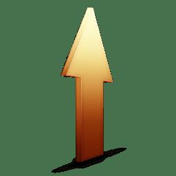 Upload orange icon