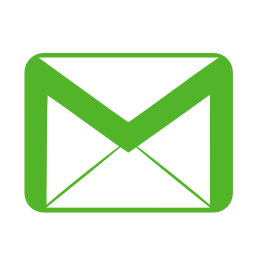 Communication email green icon