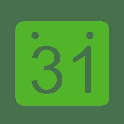 Utilities calendar green icon
