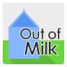 Out of milk icon