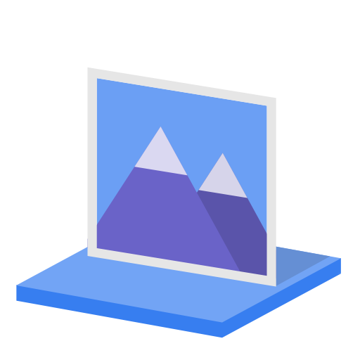 System library pictures icon