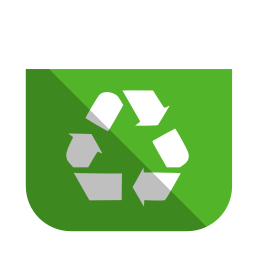 System recycling bin full icon