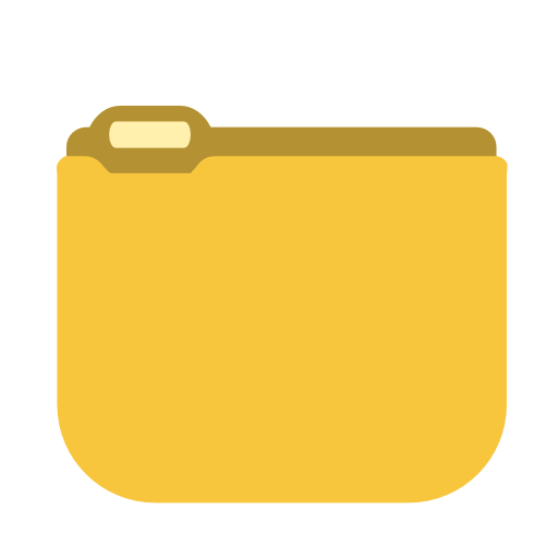 System yellow folder icon