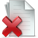 Document Delete icon