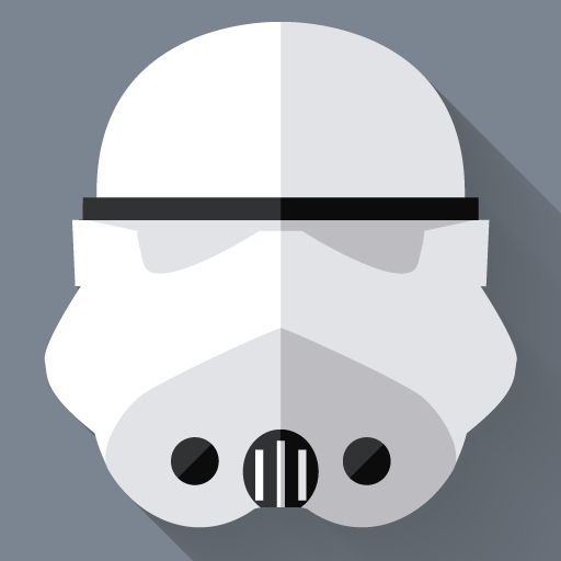 Stormtrooper Icon Starwars Longshadow Flat Iconset