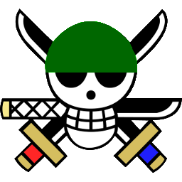 Zoro icon one piece manga jolly roger iconset crountch - One piece logo zoro ...
