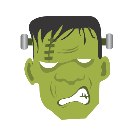 frankenstein monster icon halloween iconset css creme. Black Bedroom Furniture Sets. Home Design Ideas