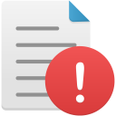 File-warning icon