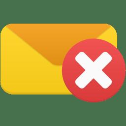 Email delete icon