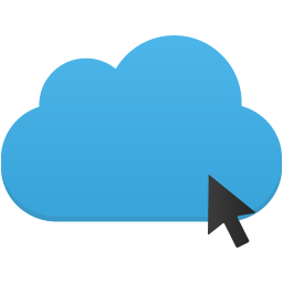Click cloud icon