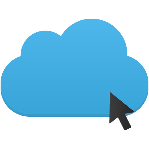 Click-cloud icon