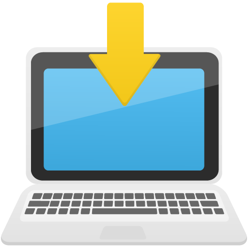 Download-to-laptop icon