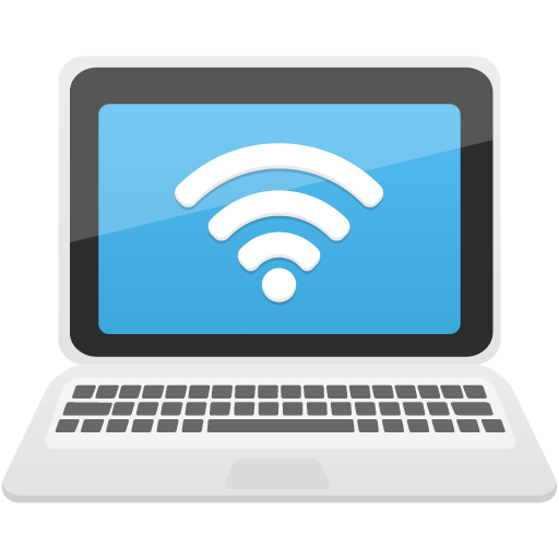 laptop wifi icon flatastic 11 iconset custom icon design