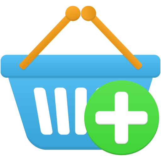 Shopping-basket-add icon