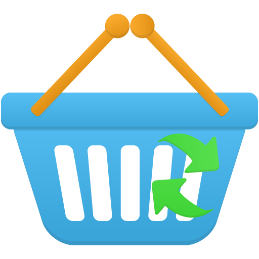 Shopping-basket-refresh icon