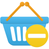 Shopping-basket-prohibit icon