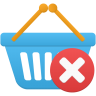 Shopping-basket-remove icon