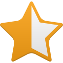 star half full icon