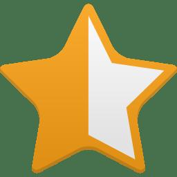 Star half full icon