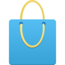Shopping bag blue icon
