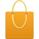 Shopping-bag-orange icon