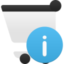 Shopping cart info icon