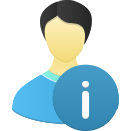 Male user info icon